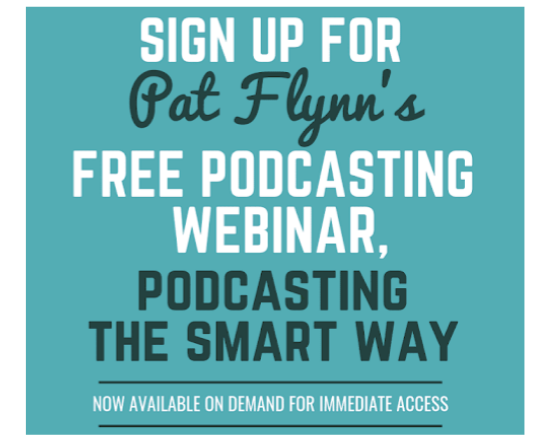 A screenshot of the event details and CTA on Pat Flynn's landing page advertising his webinar